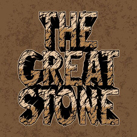 Desert The Great Stone inscription concept with cracked sand texture on vintage style isolated vector illustration 向量圖像