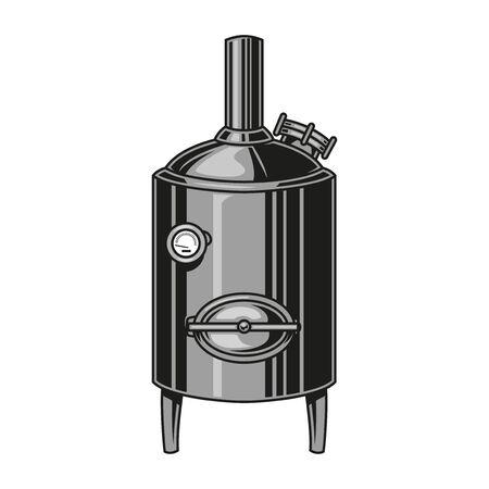 Brewing machine colorful vintage concept isolated vector illustration Ilustração