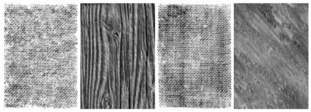 Old grungy linear textures collection in black and white colors vector illustration