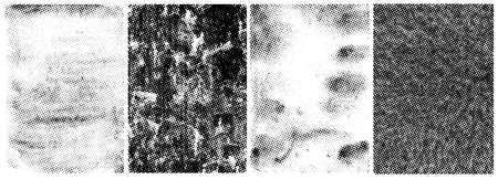 Vintage abstract grunge textures set with halftone grained patterns vector illustration