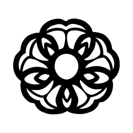 Beautiful flower tattoo concept in vintage monochrome style isolated vector illustration