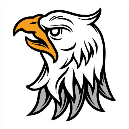 Angry eagle head vintage tattoo concept isolated vector illustration 矢量图像
