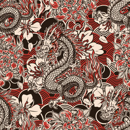 Japanese vintage seamless pattern