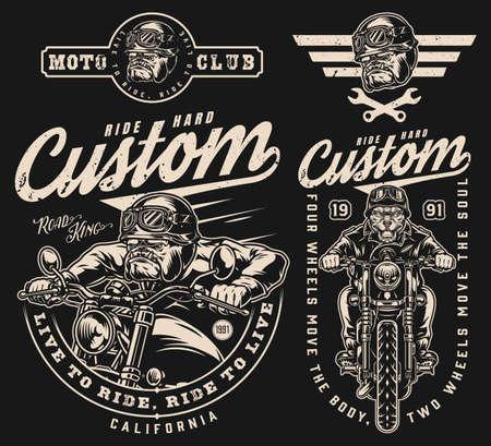 Custom motorcycle vintage designs