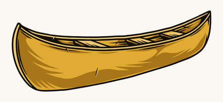 Canoe boat colorful concept