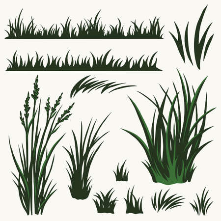 Green grass vintage collection