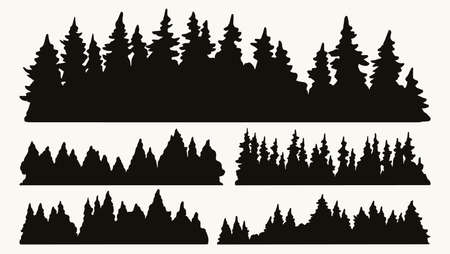Forest silhouettes vintage collection