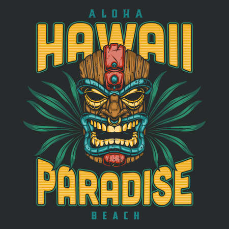 Hawaii surfing colorful badge Stock Illustratie