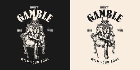 Casino vintage print
