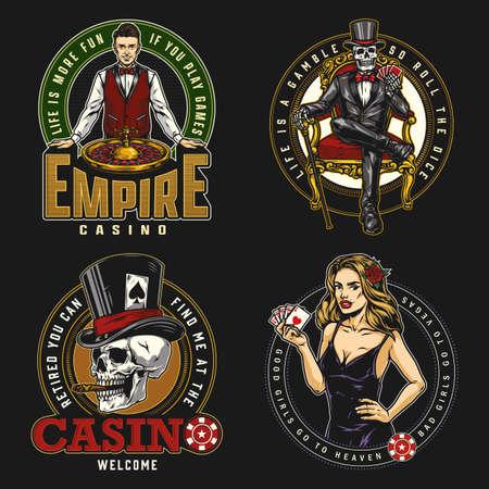 Gambling vintage badges