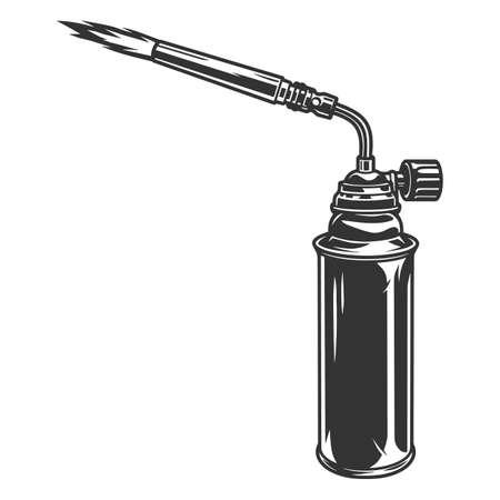 Gas burner tool vintage concept