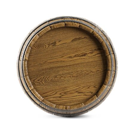 Wooden barrel isolated on white background. Banque d'images - 139213883