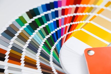 Close-up of color guide catalog