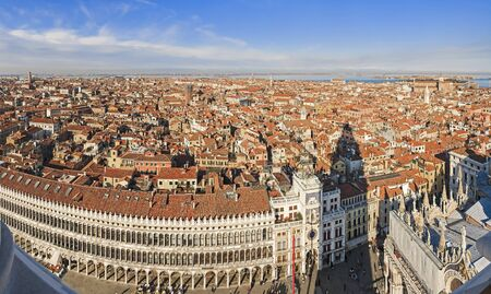 panoramic aerial view of Venice, Italy