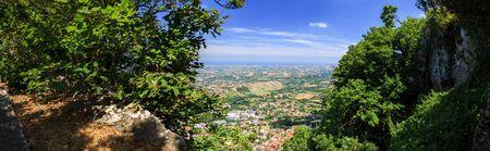 Republic of San Marino landscape. Standard-Bild