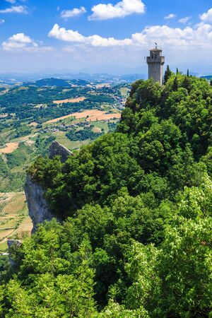 Torre del Montale, the third tower of San Marino, Italy.