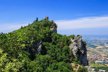 Cesta, the second tower of San Marino, Italy. Standard-Bild