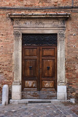 Old antique Door of the old Italian village, Tuscany, Italy