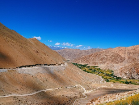 Scenic view on route to Pangong Lake