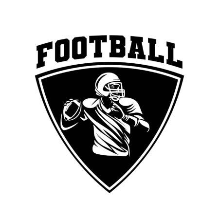 football shield logo badge Banque d'images - 134872317