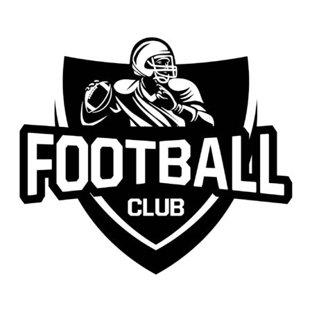 american football club logo sign in shield Banque d'images - 134872316