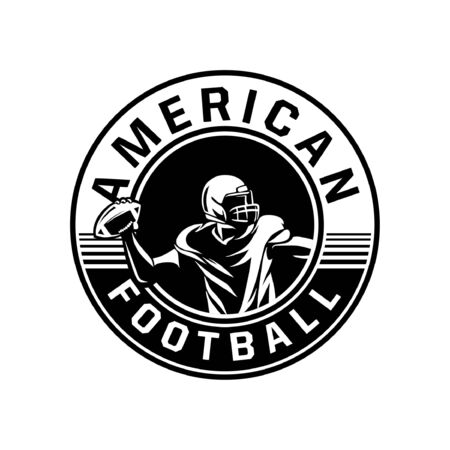 american football player badge Banque d'images - 134872496