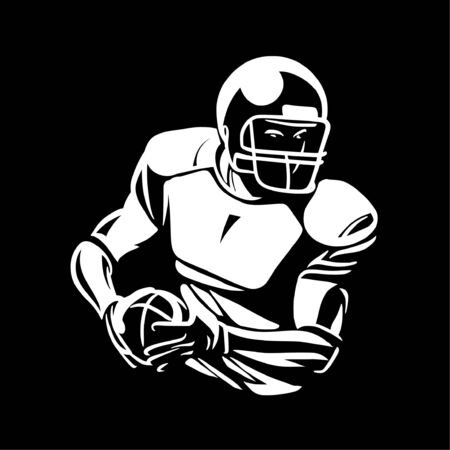 american football player bring the ball Banque d'images - 134872497