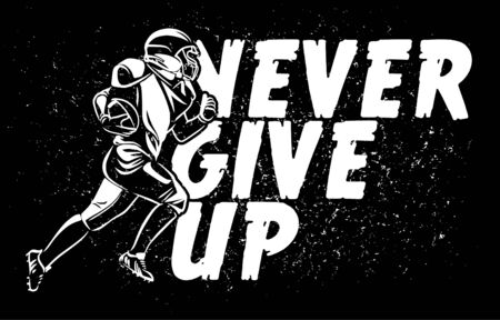 never give up american football banner poster Banque d'images - 134872504