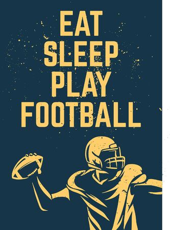 eat sleep play football poster design Banque d'images - 134872654