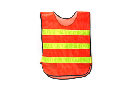 security vest: Reflective vest at night working.
