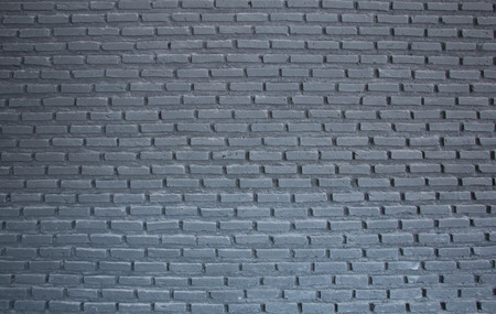 interior decoration: black brick wall Stock Photo