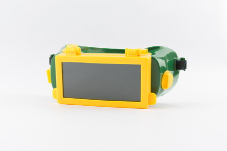 blacked: Welding mask on white background