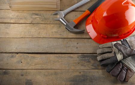 Diversas herramientas de trabajo en la madera Foto de archivo - 38222085