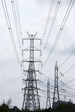 dielectric: High-voltage power transmission towers