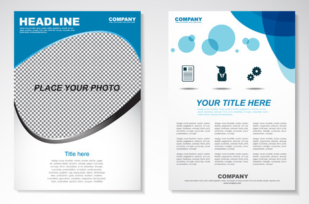 a4: Vector Brochure Flyer design Layout template in A4 size Illustration
