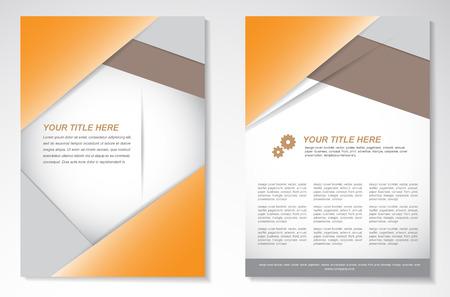 Vector Brochure Flyer ontwerp Layout sjabloon Stock Illustratie