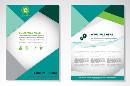 Vector Brochure Flyer design Layout template Illusztráció