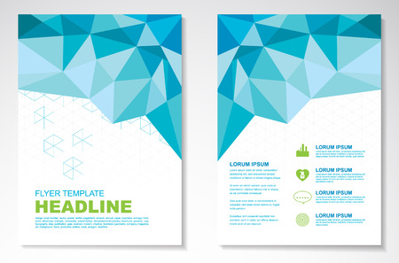 Vector Brochure Flyer ontwerp lay-out sjabloon, geometrisch
