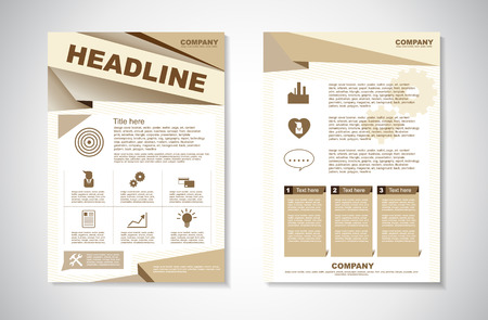 Vector Brochure Flyer design Layout template in A4 size  イラスト・ベクター素材