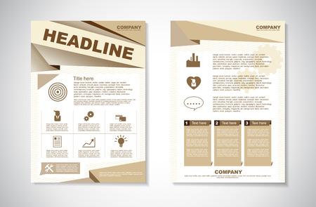 Vector Brochure Flyer ontwerp Layout sjabloon in A4-formaat
