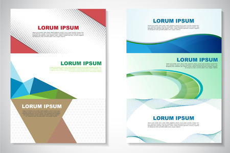 vector sample: Simple colorful horizontal banners