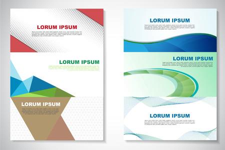 horizontal: Simple colorful horizontal banners