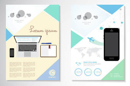Vector Brochure Flyer design Layout template, infographics pastel design 矢量图像