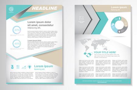 Vector Brochure Flyer ontwerp lay-out template.infographic Stock Illustratie