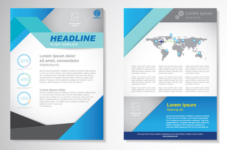 leaflet: Vector Brochure Flyer design Layout template.infographic