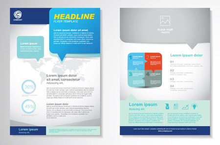 business marketing: Vector Brochure Flyer design Layout template.infographic