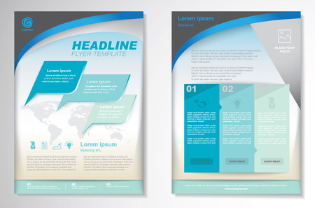 newsletter template: Vector Brochure Flyer design Layout template.infographic