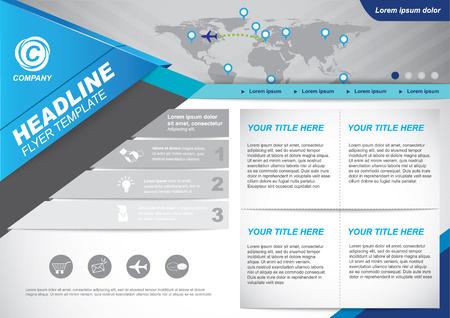 website template: Vector Brochure Flyer design Layout template. business website template