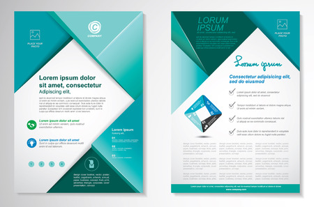 Vector Brochure Flyer design Layout template, size A4, Front page and back page, infographics. Easy to use and edit. Imagens - 45067400