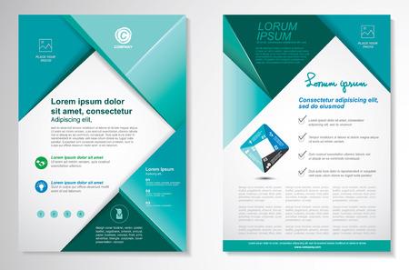 Vector Folleto folleto plantilla de diseño diseño, tamaño A4, en la página frontal y última página, la infografía. Fácil de usar y editar. Foto de archivo - 45067400